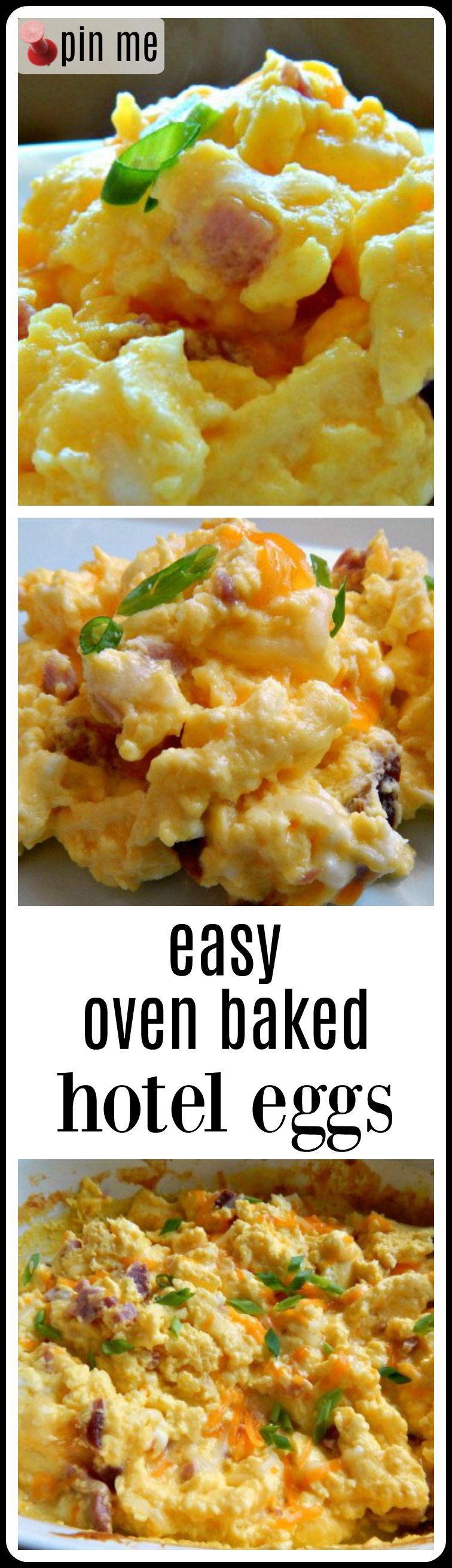 Oven Baked or Hotel Eggs are so fluffy and perfect - they feed a crowd and free up your stovetop for other breakfasty things. #OvenEggs #OvenScrambledEggs #HotelEggs #BakedEggs #BakedScrambledEggs