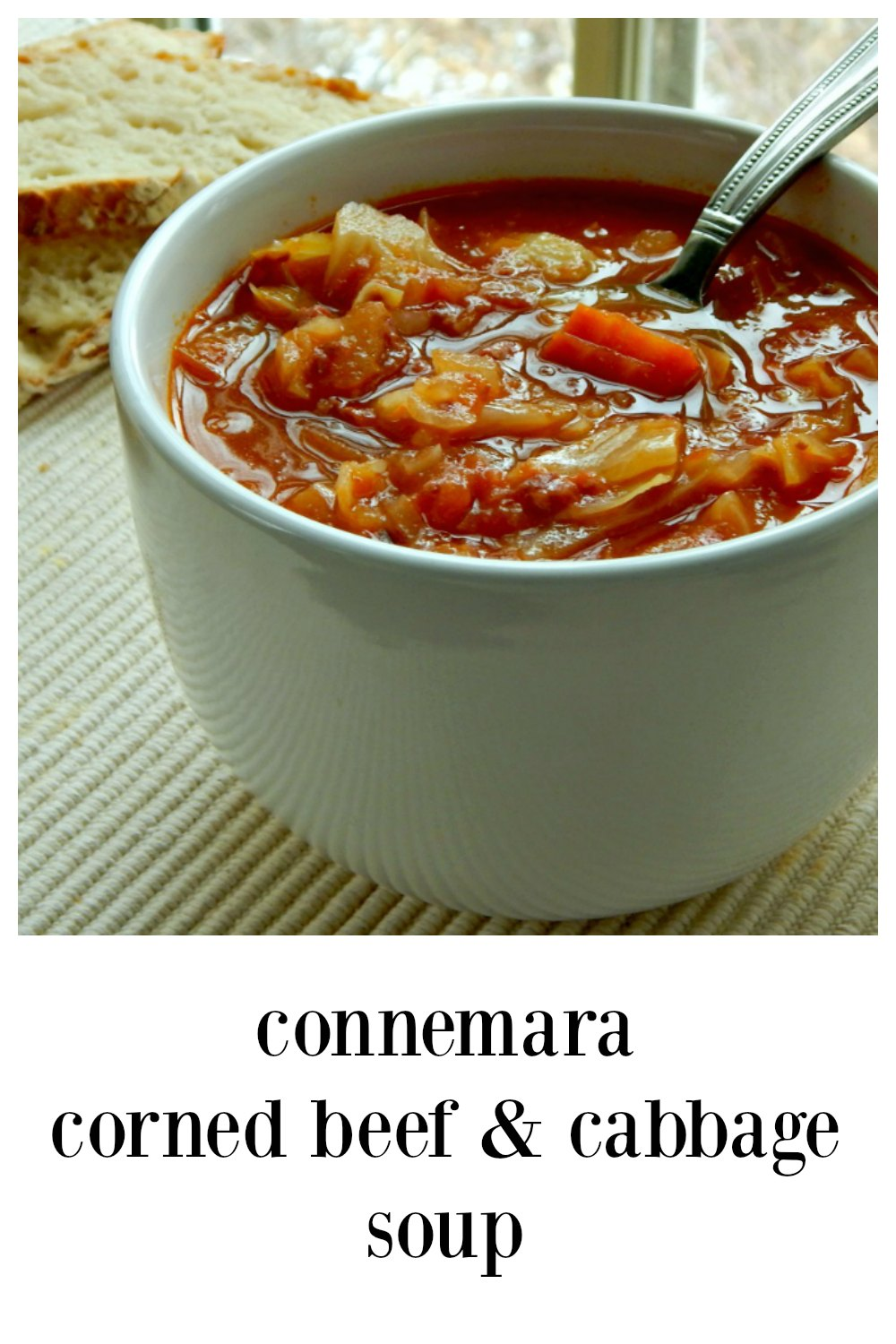 If there was ever any reason to hoard your corned beef, Connemara Corned Beef Cabbage Soup has GOT to be it! It's so crave-worthy! #CornedBeefSoup #LeftoverCornedBeefSoup #LeftoverCornedBeef #Irish Recipe #IrishSoup