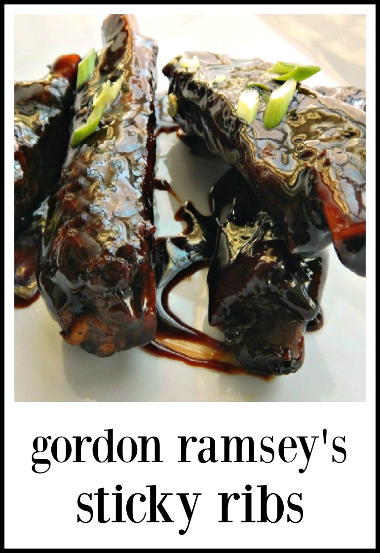 Not your average sticky ribs. Gordon Ramsey's Sticky Ribs are just full of mind-blowing flavor. They're like La Brea tar pit ribs! #StickyRibs #Gordon Ramsey #GordenRamseyStickyRibs