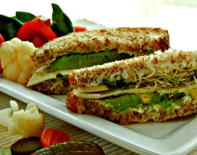 Health Nut Avocado Sandwiches