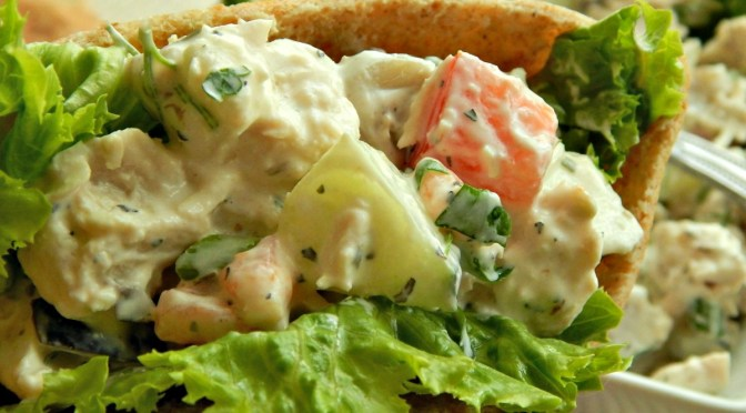 Greek Chicken Salad Sandwiches