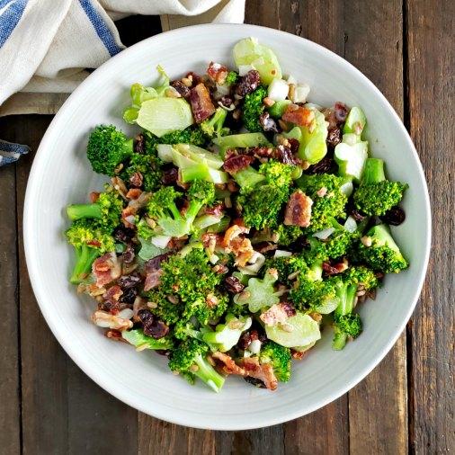 Crazy Broccoli Salad No Mayo