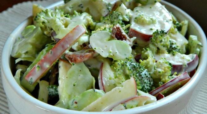 Shaved Broccoli Salad with Apple & Tarragon