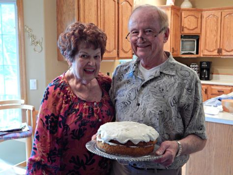 My folks with the Wayside Inn Carrot Cake