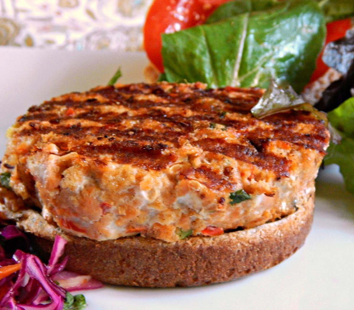 Salmon Burger healthy Marc Bittman