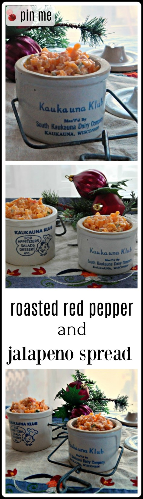 Roasted Red Pepper & Jalapeno Spread - on crackers or maybe grilled cheese? It's amped up pimento cheese!