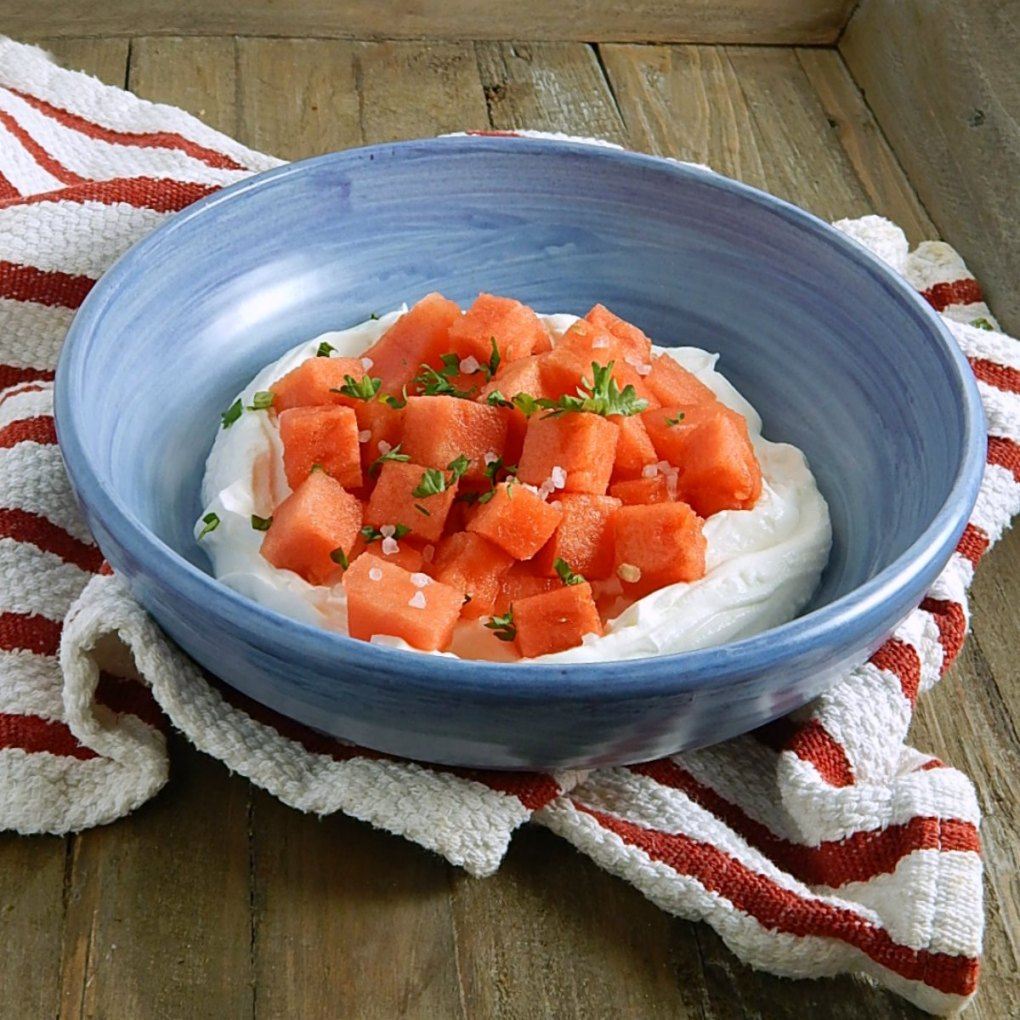 Watermelon Yogurt Salad