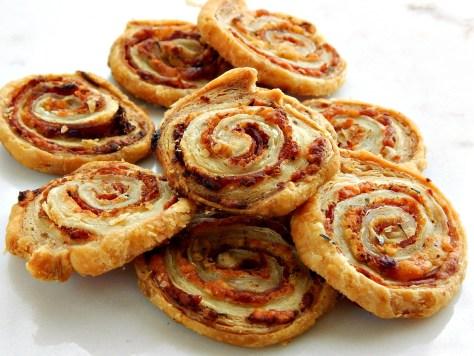 Pepperoni & Asiago Pinwheels puff pastry