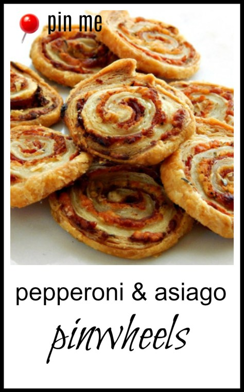 Easy pinwheel appetizer made with puff pastry. Use the same method for other flavors!