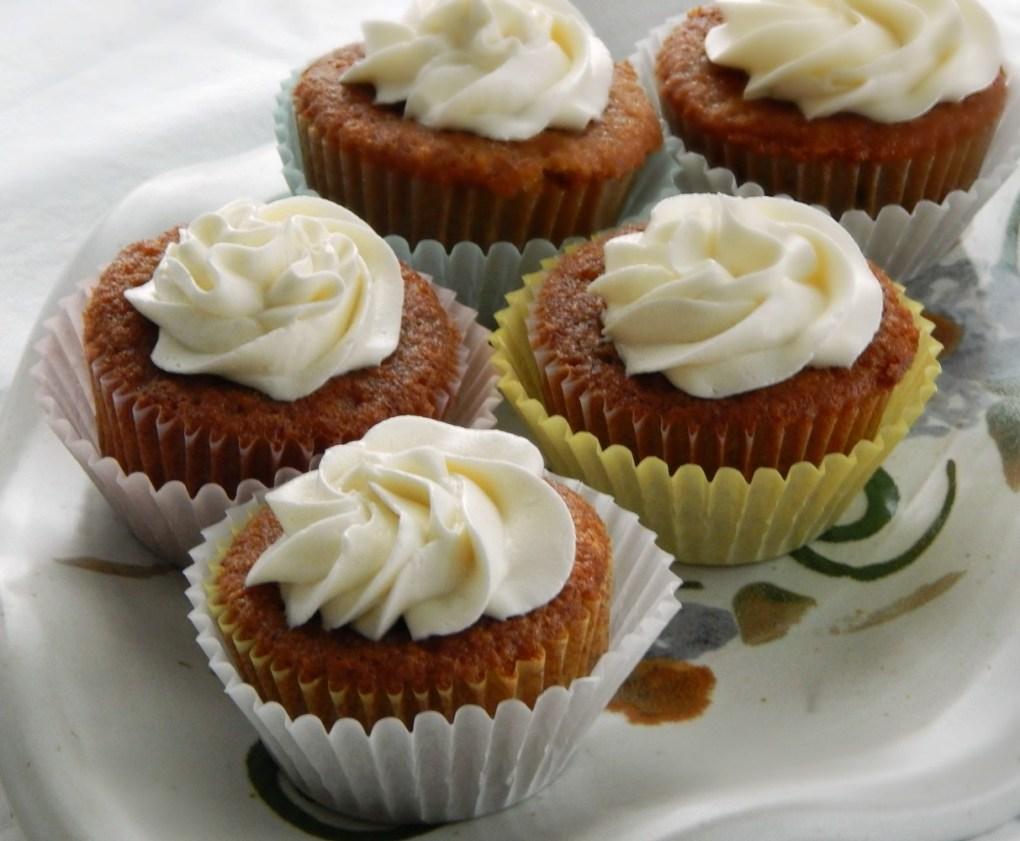 Grandma's Applesauce Cupcakes with Ermine Buttercream