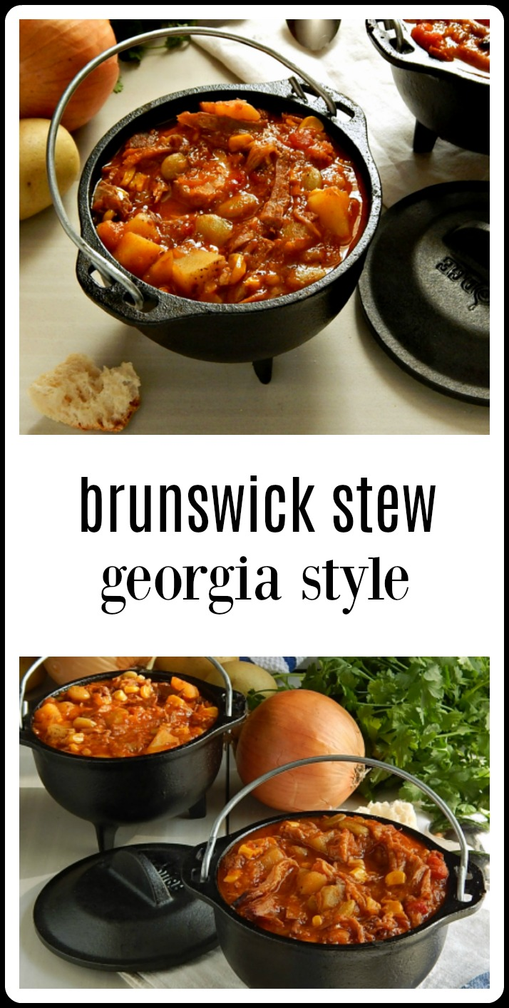 I made this smoky, tangy Brunswick stew for my sister from Georgia. It got the thumbs up. Something like this is the BEST Brunswick Stew I've ever had! I agree!! #BrunswickStew #BrunswickStewGeorgiaStyle