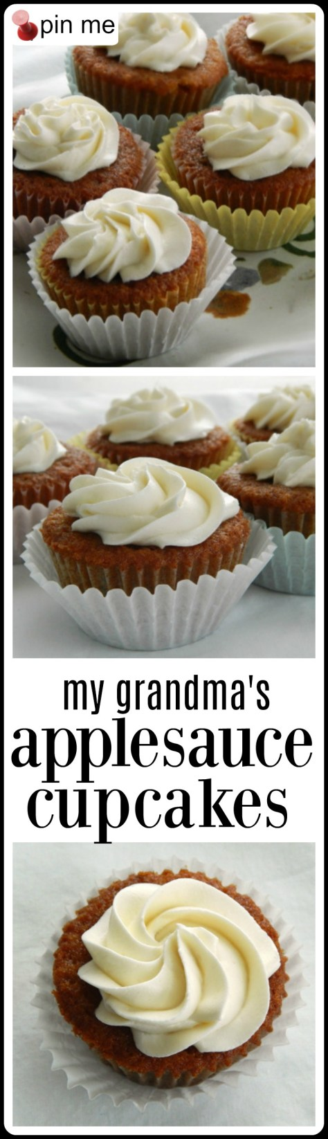 From my Grandma, who was born in 1897 - the BEST applesauce cupcakes!