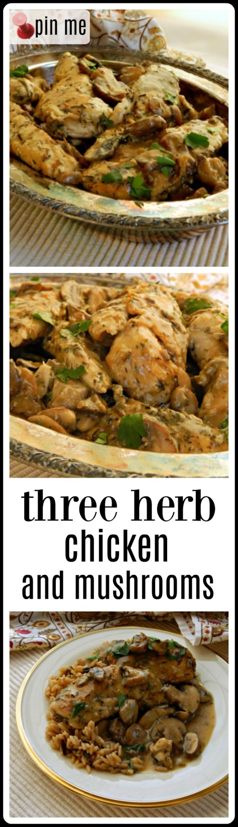 Three Herb Chicken & Mushrooms - Fabulously Frugal and a easy, too!