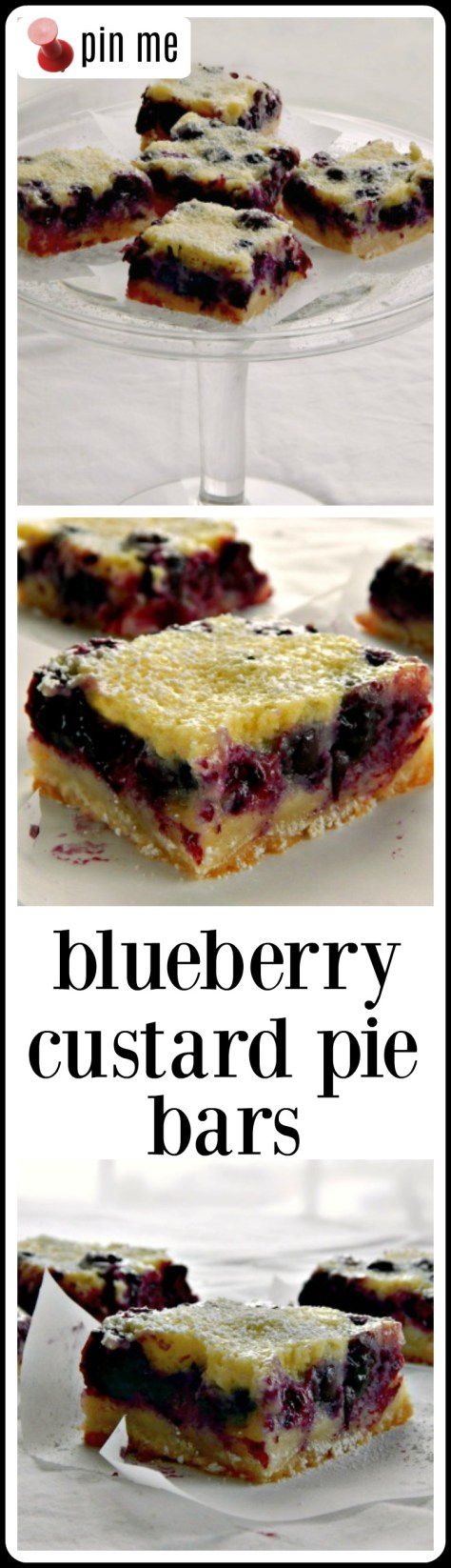 Blueberry Custard Pie Bars - they are EVERYTHING!