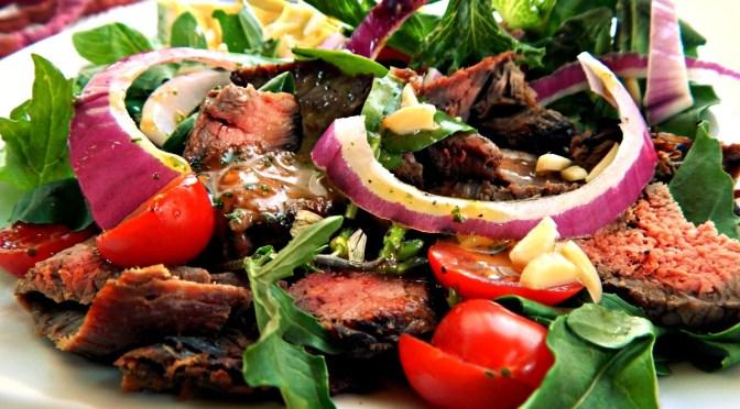 California Steak Salad with Sweet/Spicy Asian Vinaigrette