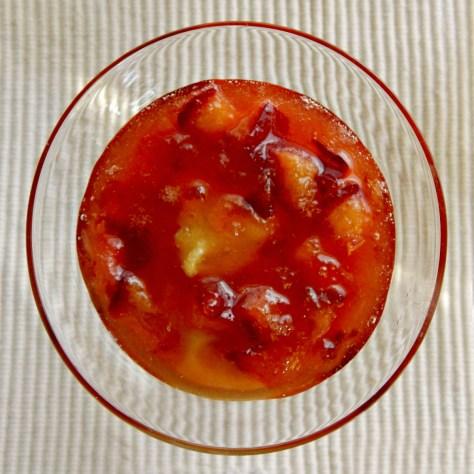 Polenta Budino with Plum Marmellata