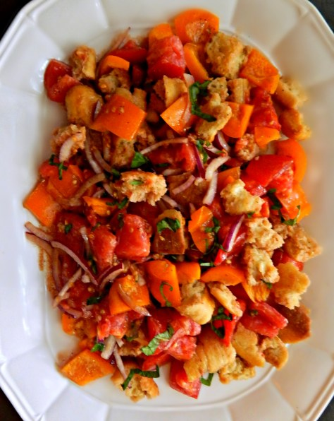Classic Panzanella Updated with Croutons and the Best Balsamic Dressing