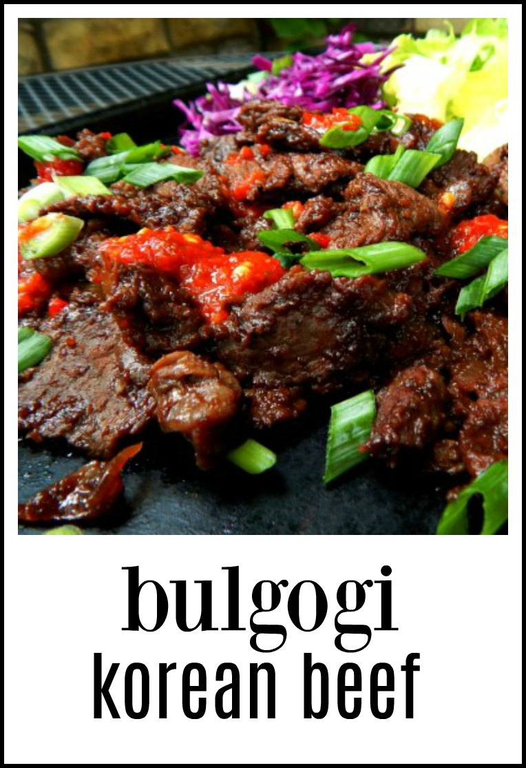 Bulgogi Korean Beef - we're talking wafer thin slices of marinated beef, seared off and served in wraps or with rice. Insanely good! #Bulgogi #BulgogiKoreanBeef #KoreanBeef