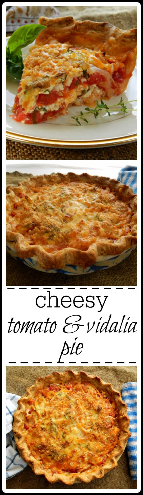 Cheesy Tomato & Vidalia Pie. A bit of work but this is HEAVEN!!