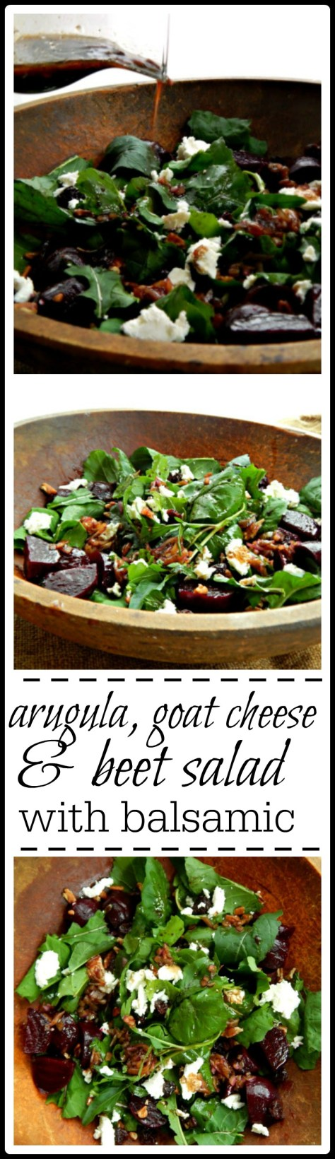 This is one gorgeous salad with the goat cheese & beets & home made balsamic