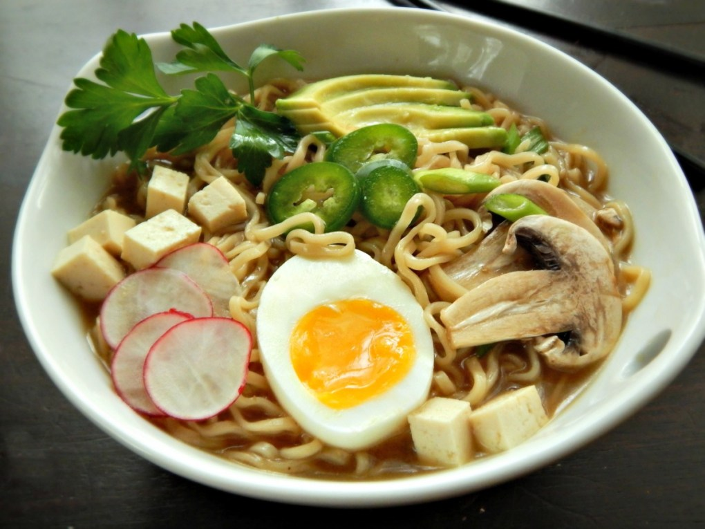 Homemade Turkey Ramen from leftover turkey