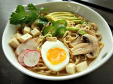 Home-made Turkey Ramen from leftover turkey