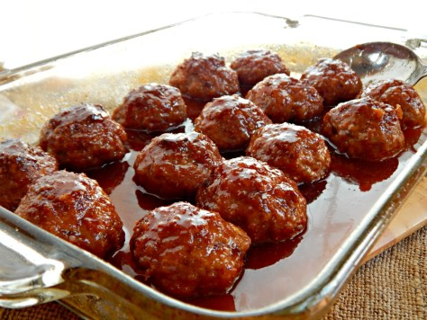 Iowa Ham Balls with Sweet/Sour Glaze