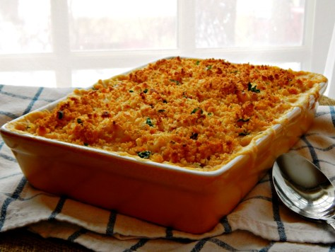 The Ultimate Macaroni & Cheese with Herb Breadcrumb Topping