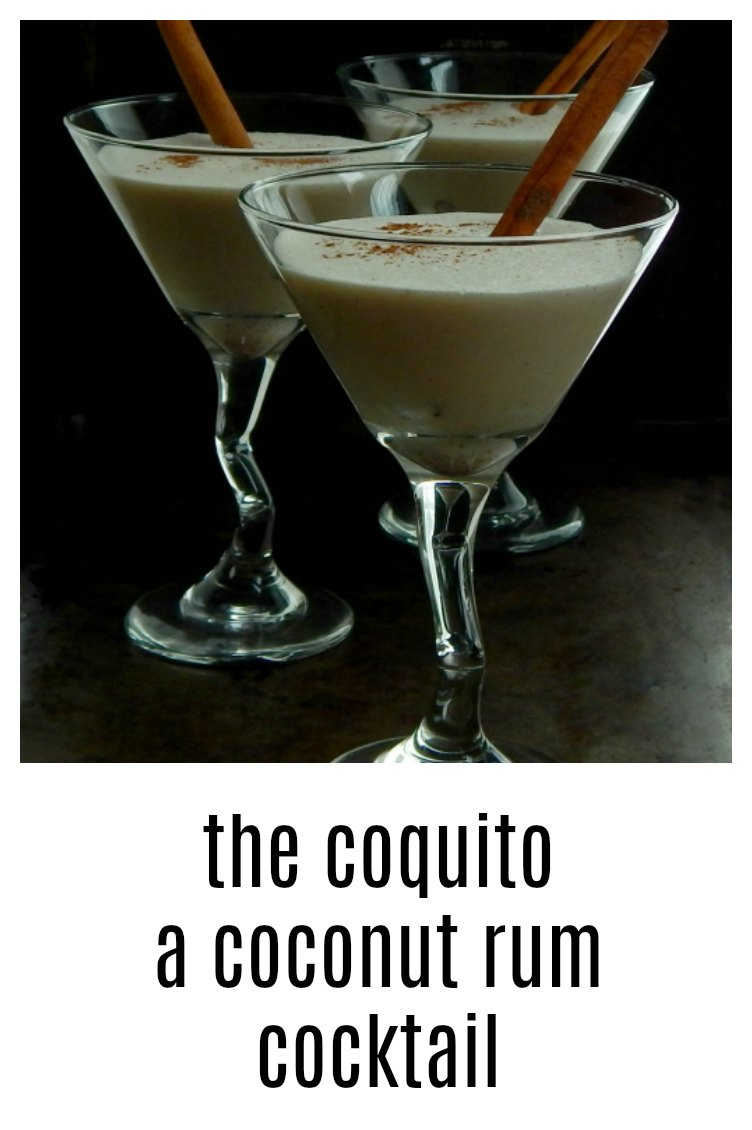You have to try the creamy, frothy, coconut deliciousness laced with Rum and touched with cinnamon that is the Coquito. #Coquito #PuertoRicanCocktail