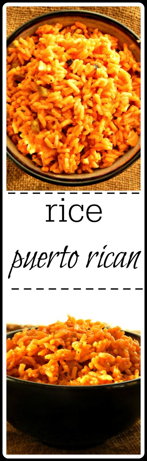 This rice has a Puerto RIcan flair - fantastic with Pernil