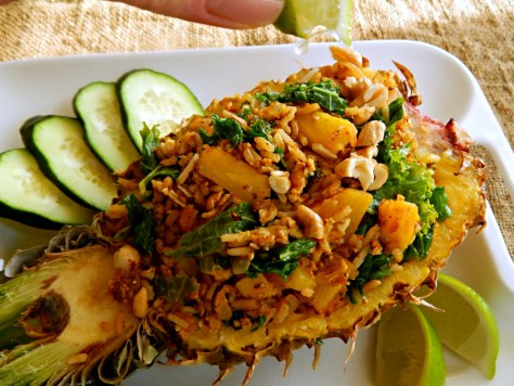 Thai Pineapple Fried Rice with Kale