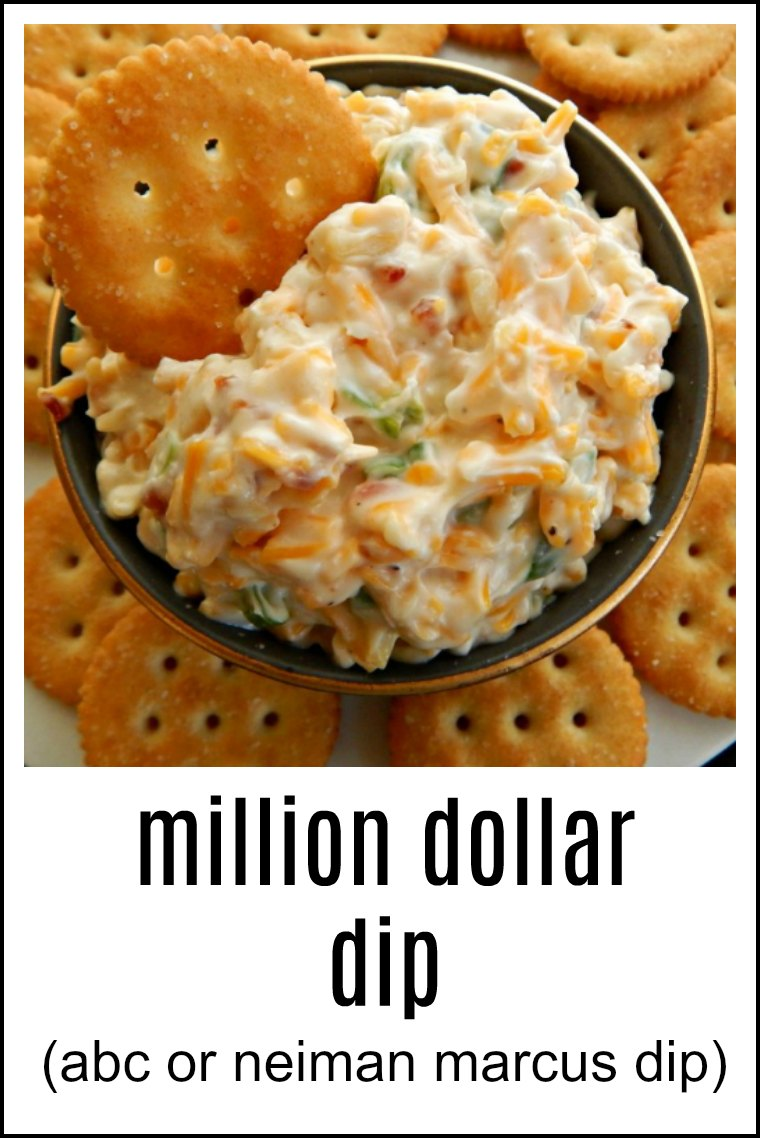 Million Dollar Dip is one name, so is ABC for the Almond, Bacon & Cheddar & Neiman Marcus Dip. No matter what it's called, it's fast, easy and delish! And did I mention Bacon?!! #MillionDollarDip #NeimanMarcusDip #ABC Dip #AlmondBaconCheddarDip