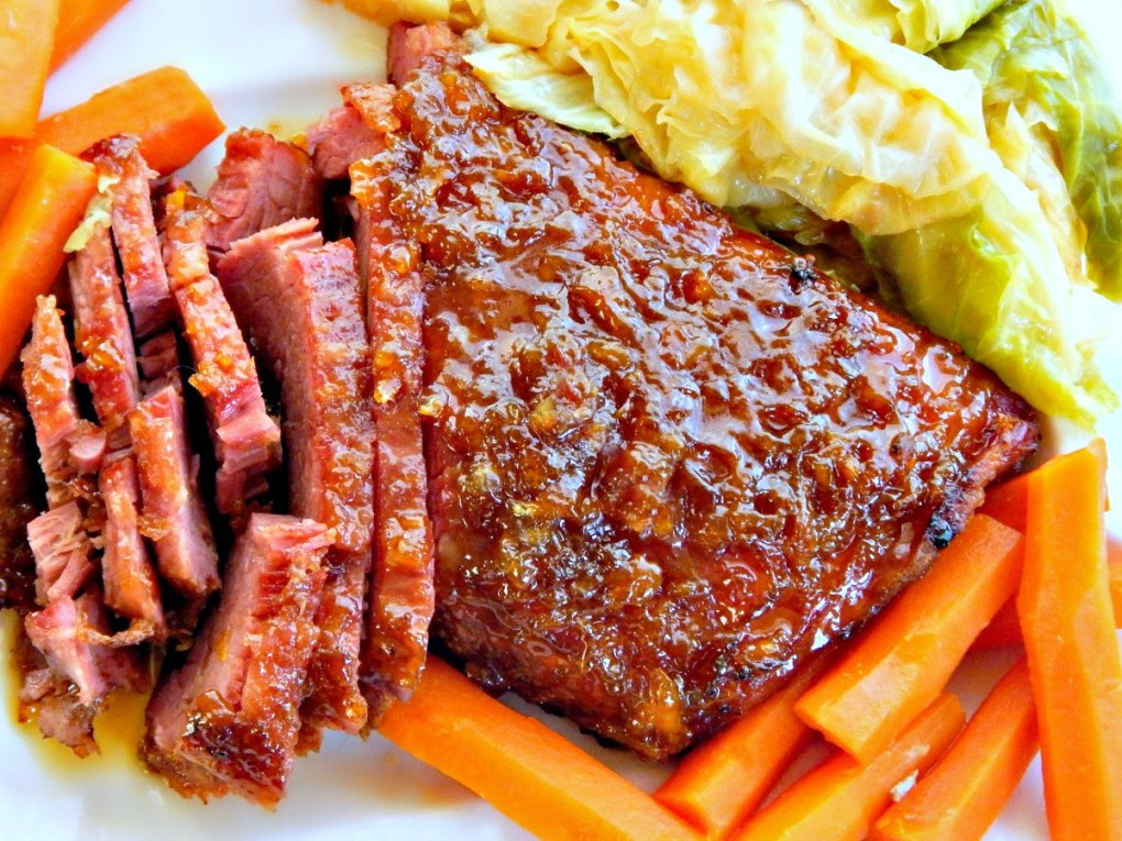 Whiskey & Marmalade Glazed Corned Beef