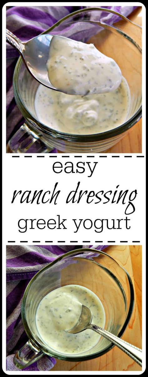 Easy Greek Yogurt Ranch with buttermilk & dried herbs