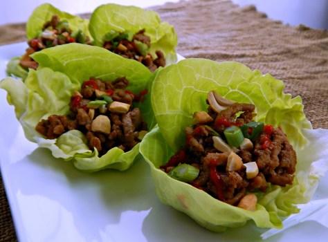 Asian Turkey (or Chicken) Lettuce Wraps