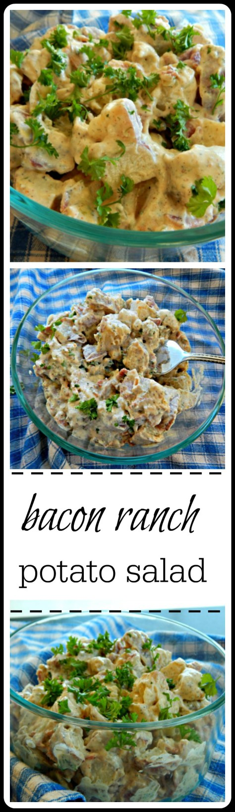 Bacon Ranch Potato Salad - the flavor comes from dry Ranch mix, either home-made or store bought and it's fantastic!