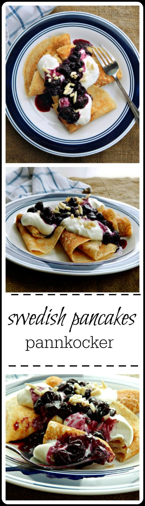 fabulous crepe like pancakes with a fake marscapone topping & sugar free blueberry  compote.