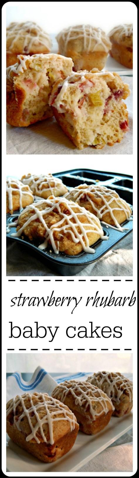 strawberry rhubarb babycakes