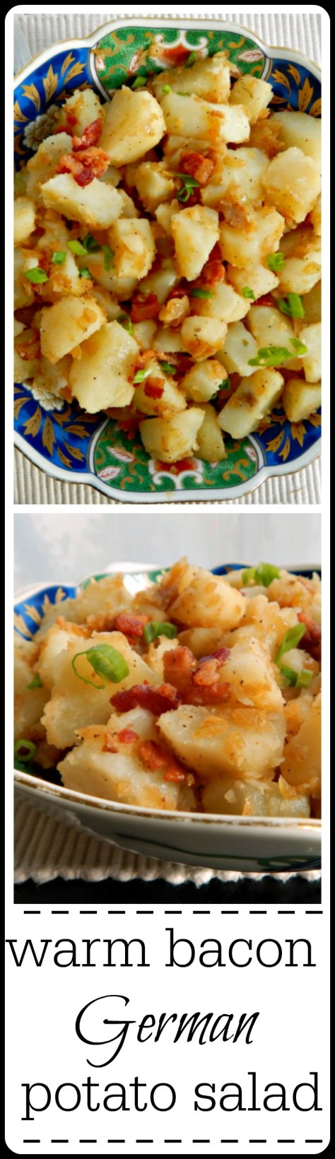 German Potato Salad: Done in the style of Southern Germany with Bacon & Vinegar. This is based off an old family recipe handed down from Grandma!