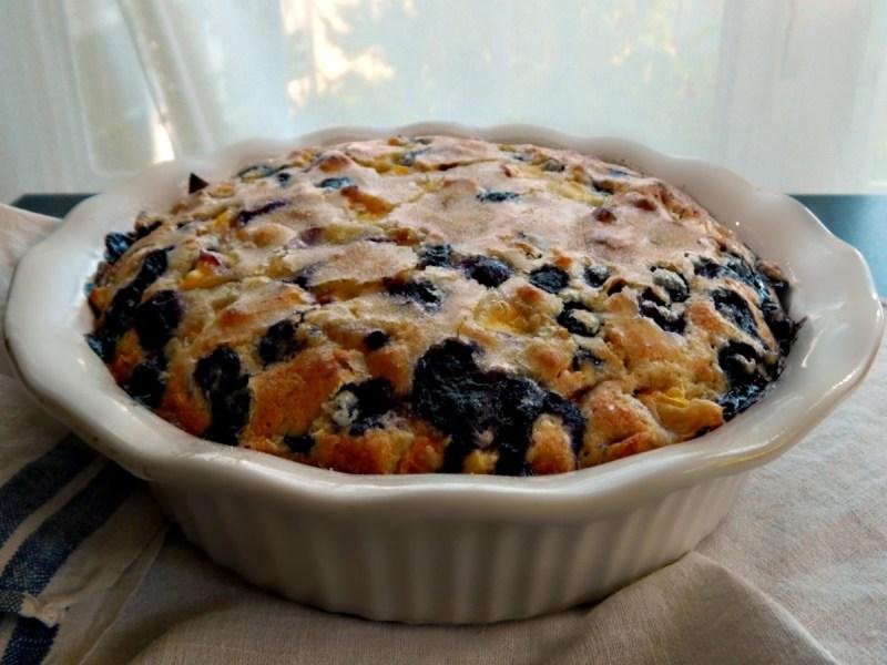Blueberry Nectarine Buckle