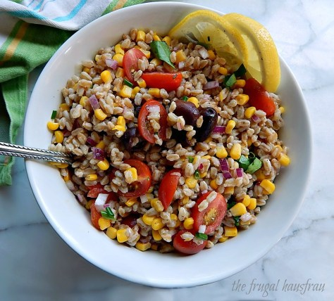 Jeff's Warm Farro Salad with Charred Corn