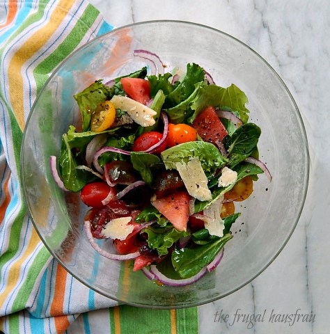 Watermelon and Tomato Salad