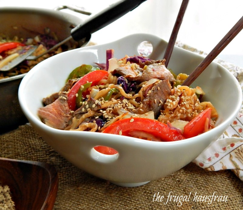 Mongolian Barbecue Noodle Bowls
