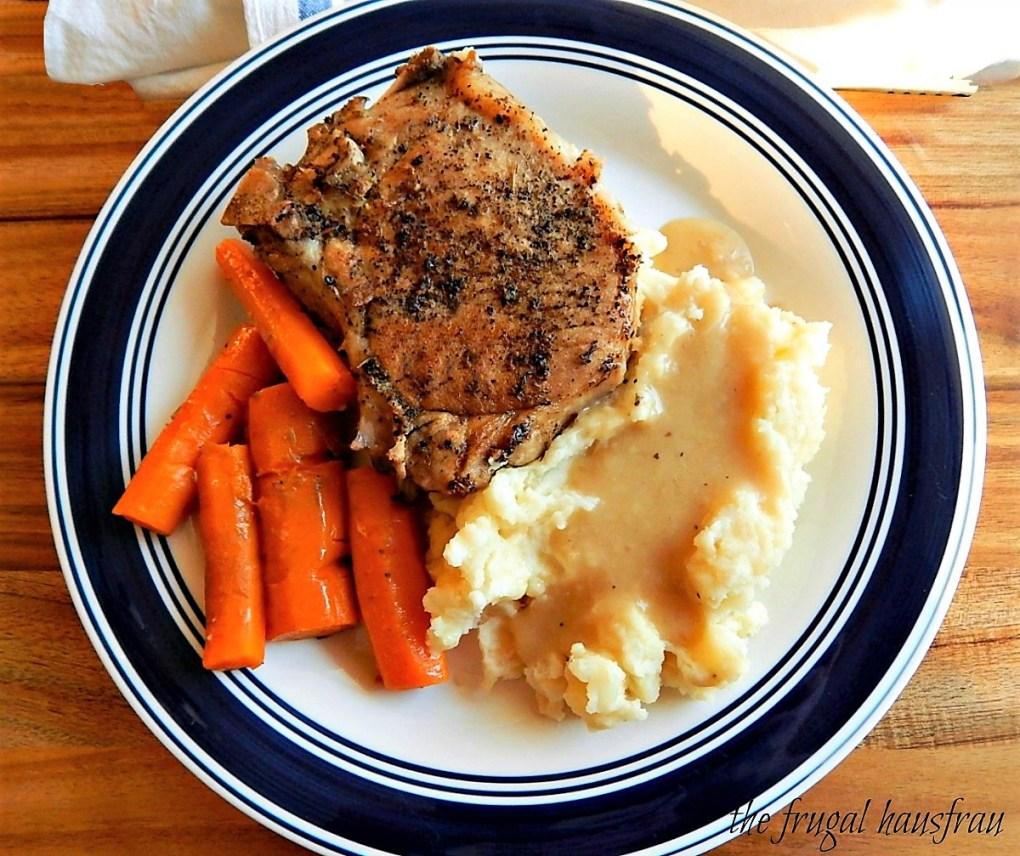 Instant Pot Pork Chop One Pot Meal Pork Chops, Mashed Potatoes, Gravy & Carrots