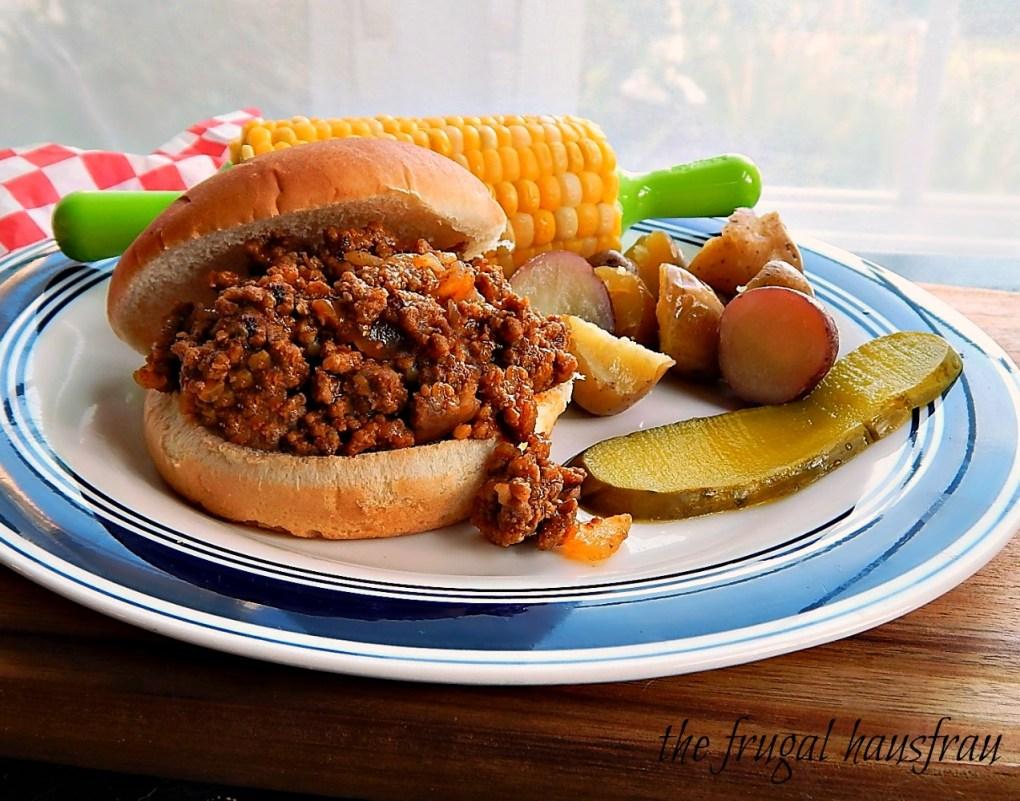 Maid-Rite Sandwiches, Sloppy Joe Tavern Burger old Church Cookbook recipe