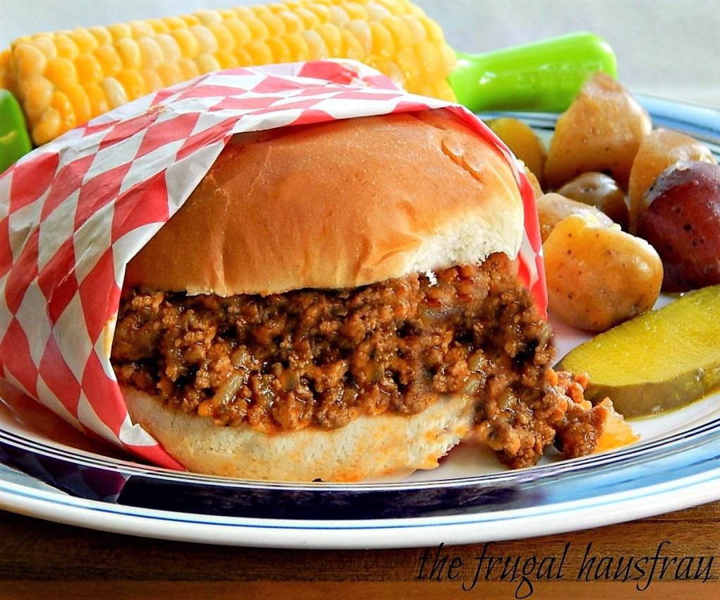 Maid-Rite Sandwiches Sloppy Joe Tavern Burger old Church Cookbook recipe