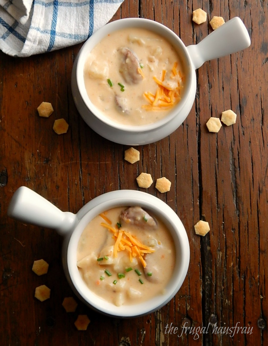 Cheesy Potato Sausage Soup - Instant Pot or Stove-top