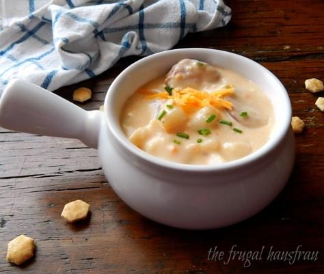 Instant Pot Cheesy Potato Sausage Soup