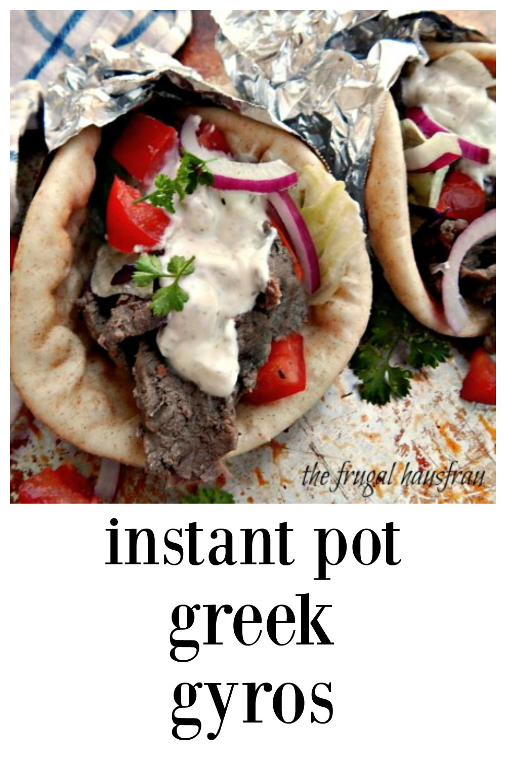 These Instant Pot Greek Gyros are different from most recipes; they're marinated for maximum flavor and they taste exotic, just like the original! You'll think you've died and gone to heaven (or at least to a restaurant!) #InstantPotGyros #InstantPotGreekGyros