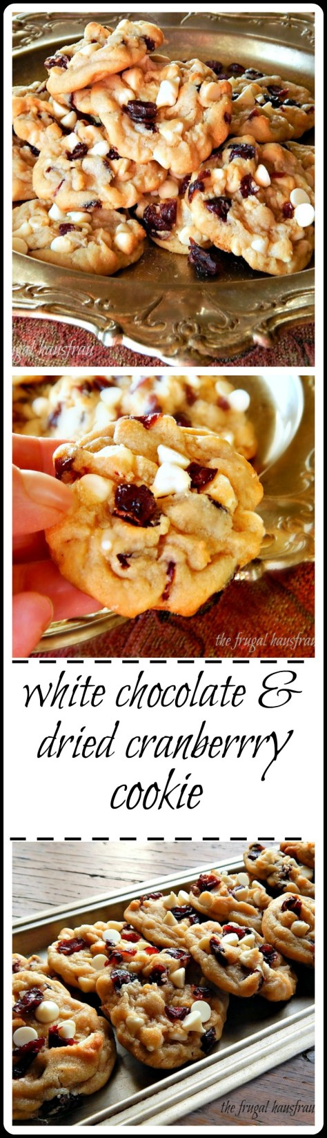 White Chocolate & Dried Cranberry Cookies - truly exceptional!